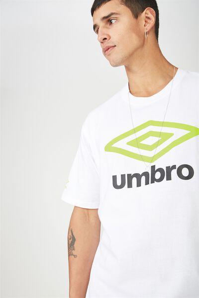 Umbro Lcn Logo T Shirt, WHITE