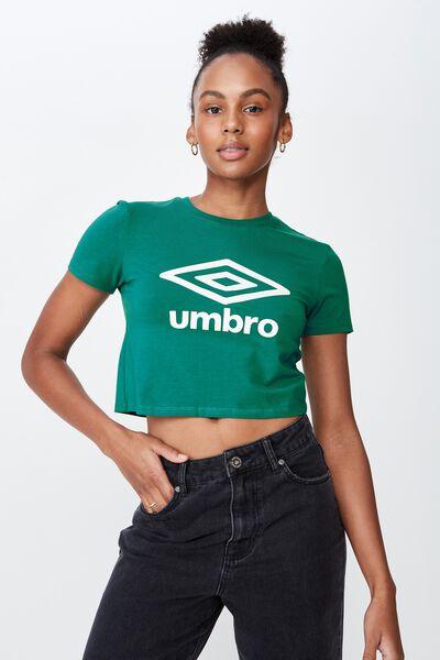 Umbro Lcn Fitted T Shirt, ALPINE GREEN