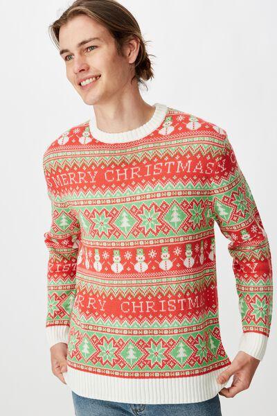 Unisex Christmas Knit Jumper, MERRY CHRISTMAS