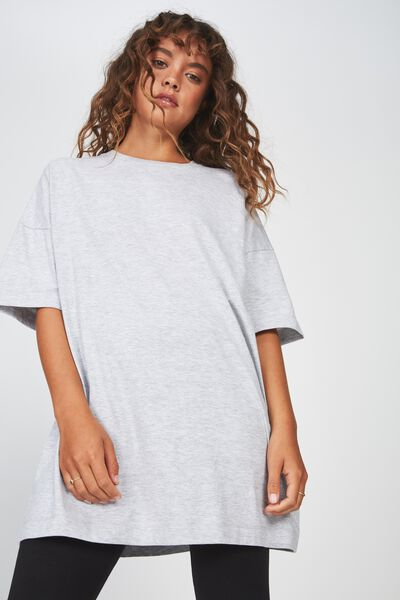 Crew Neck Oversized Tshirt 2, GREY MARLE