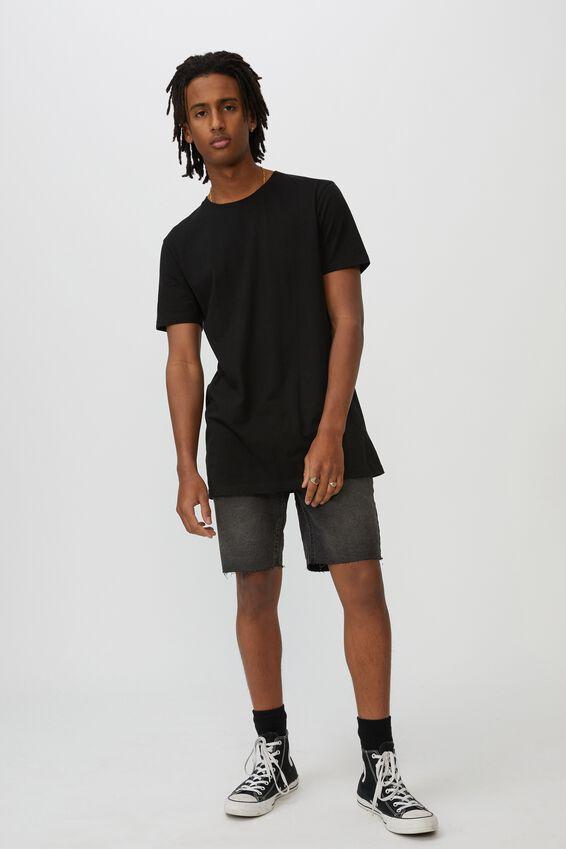 Denim Cut Off Short, WASHED BLACK
