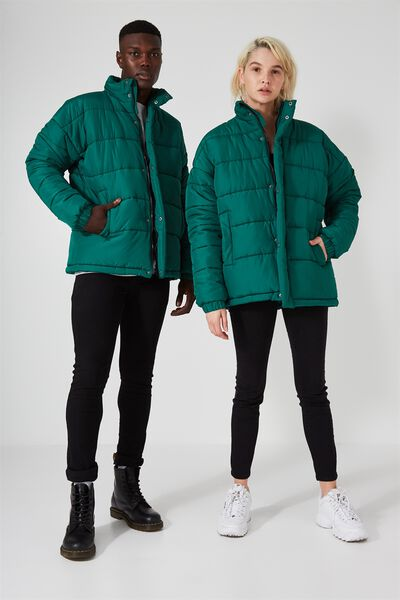 Arbour Puffer Jacket, GREEN