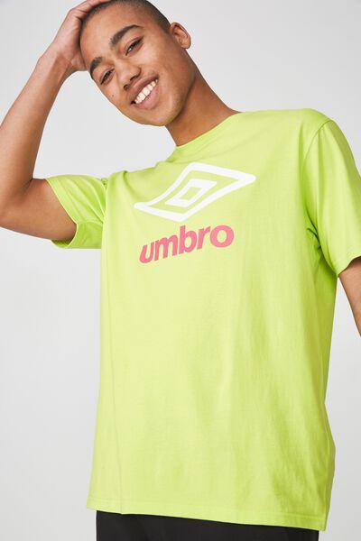 Umbro Lcn Logo T Shirt, ACID LIME