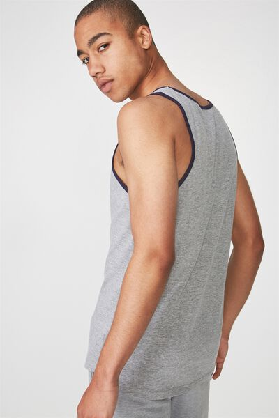 Skater Tank, TRUE GREY MARLE/NAVY