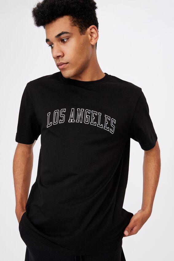 Regular Graphic T Shirt, BLACK/LOS ANGELES