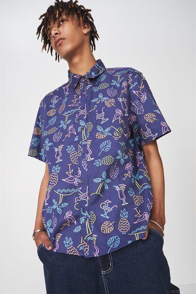 Ss Oversized Shirt, BIG NEON