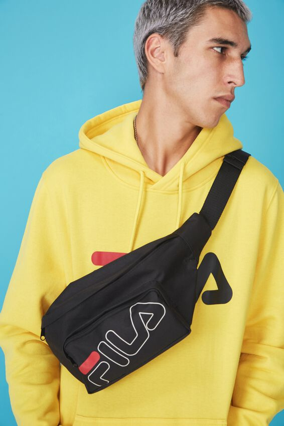 Fila Lcn Black Bumbag by Cotton On