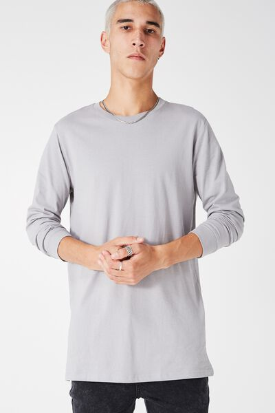 Ls Tall Tee, BLUE GREY