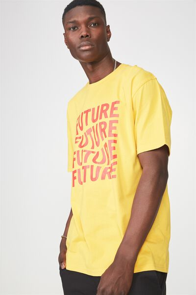 Graphic T Shirt, GOLDEN ROD/NEW FUTURE