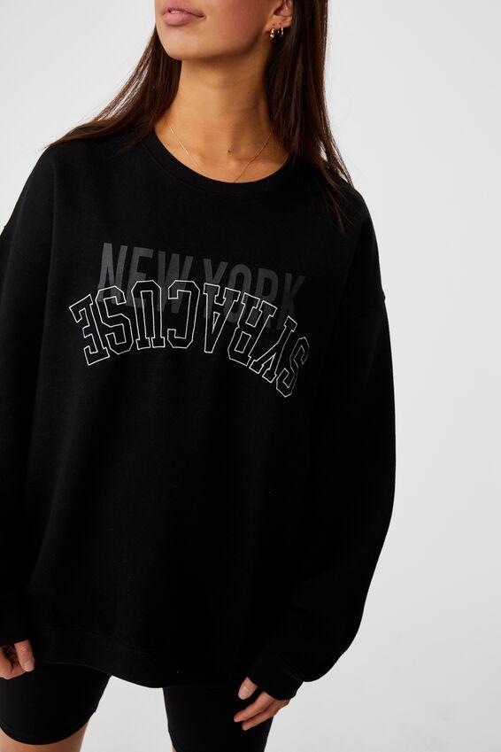 Oversized Graphic Crew, BLACK/NEW YORK