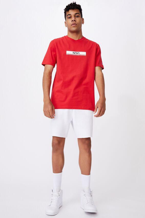Regular Pop Culture T Shirt, LCN NAS LYCHEE/NASA STRIPE