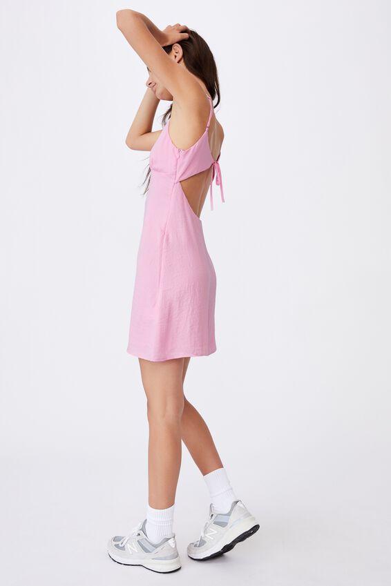 Tie Back Dress, BABE PINK