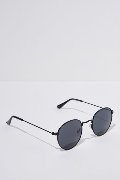 Splendour Round Sunglasses, M.BLACK_SMK