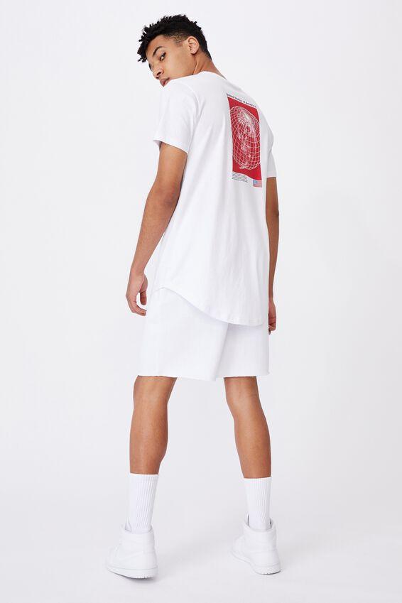 Curved Pop Culture T Shirt, LCN NAS WHITE/NASA