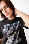 Regular License T Shirt, WASHED BLACK BUGS BUNNY