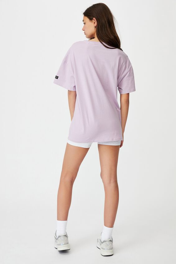 Smiley Super Relaxed Graphic Tee, LCN SMI ORCHID BLOOM/SMILEY FACE