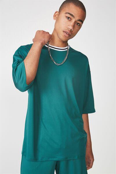 Ss Tape Trim T Shirt, ALPINE GREEN
