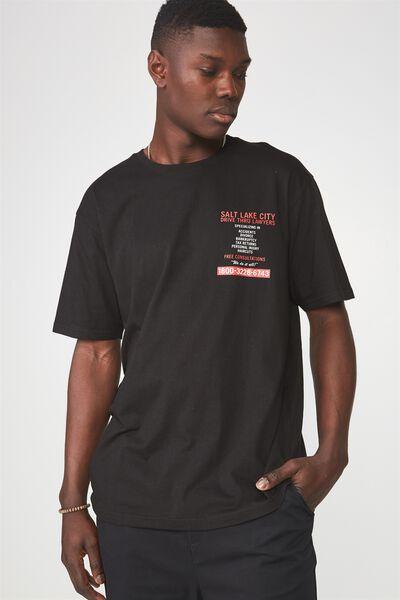 Graphic T Shirt, BLACK/SALT LAKE
