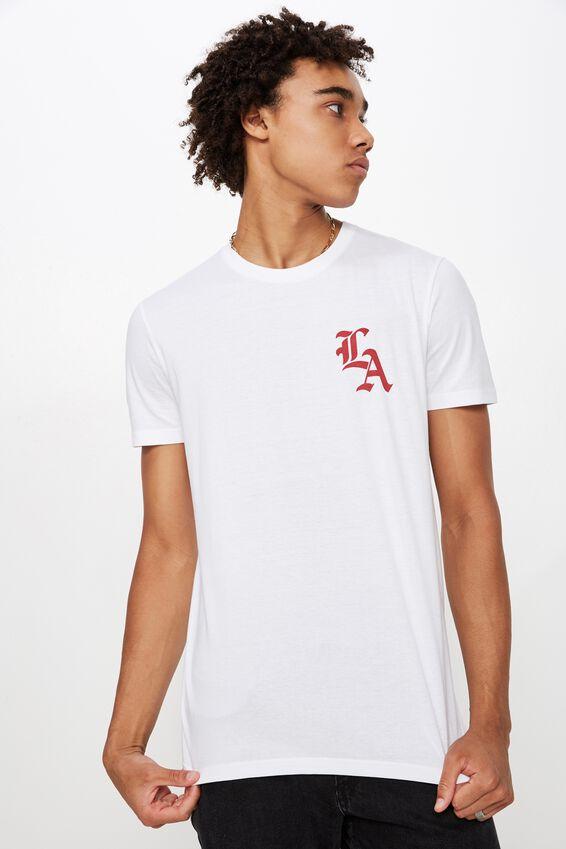 Slim Graphic T Shirt, WHITE/PO BOX