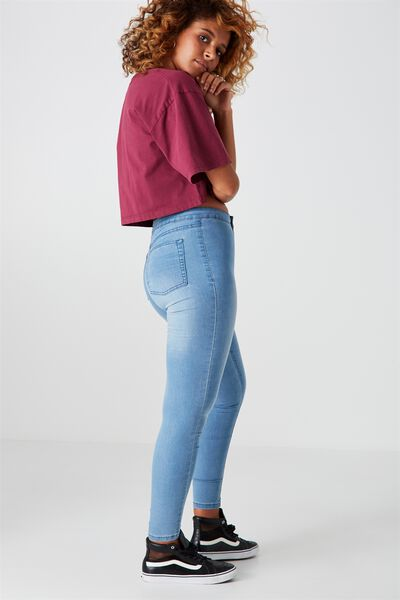 The Crop Jegging, SUPER BLUE