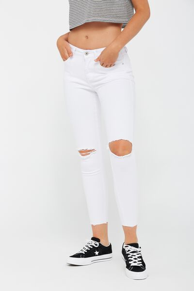 The Mid-Rise Skinny Jean, WHITE_WORN_CROP