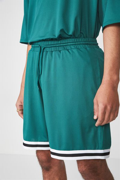 Tape Trim Shorts, ALPINE GREEN
