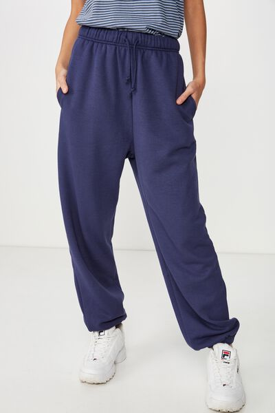 Slouchy Washed Trackpant, WASHED NAVY