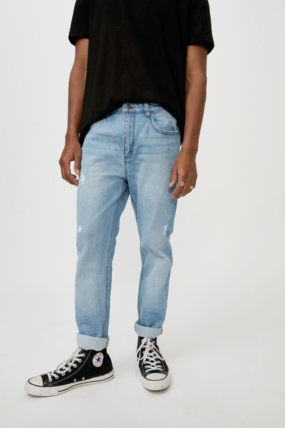 Relaxed Tapered Jean, BRIGHT BLUE