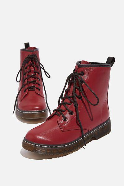 Combat Boot, PLUM