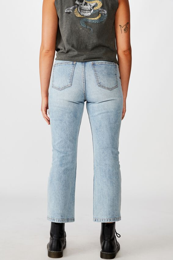 Cropped Flare Jean, VINTAGE BLUE