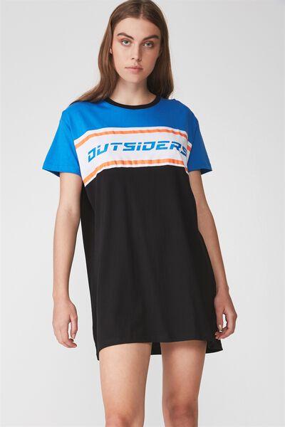 Tshirt Dress, FRENCH BLUE_OUTSIDE LINE