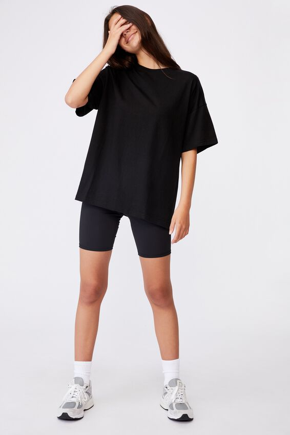 Super Relaxed Basic Tee, BLACK