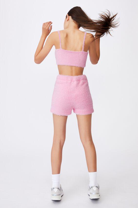 Fluffy Knit Short, BABE PINK