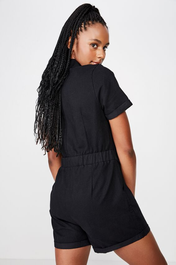 Utility Jumpsuit, BLACK