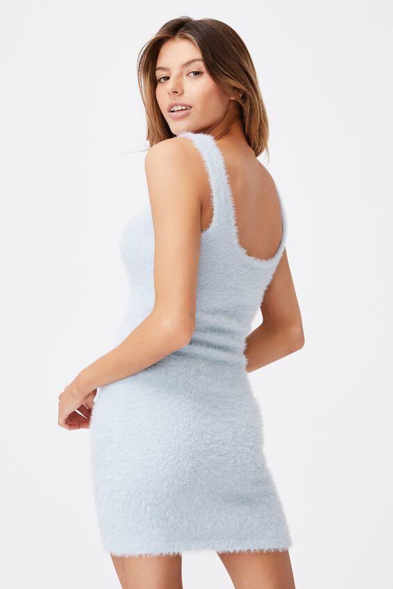 Fluffy Knit Dress, SKYWAY