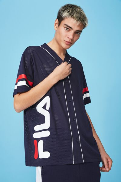 Fila Lcn Baseball Mesh T Shirt, NAVY