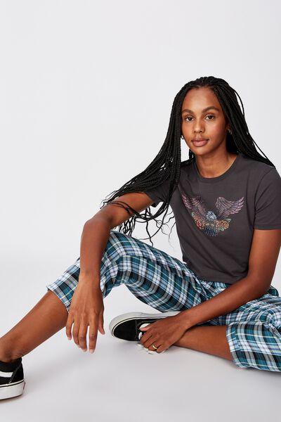 Fitted Graphic T Shirt, EAGLE ROSE/ASPHALT