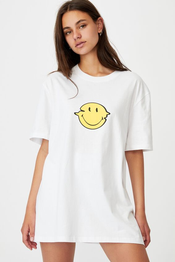 Smiley License Tee, LCN SMI WHITE/SMILEY