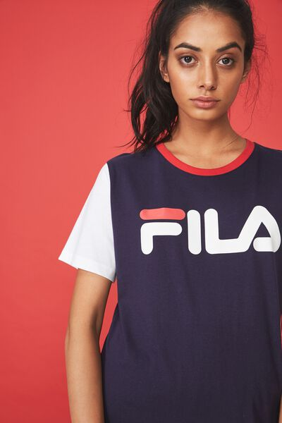Fila Lcn Relaxed T Shirt, EVENING BLUE