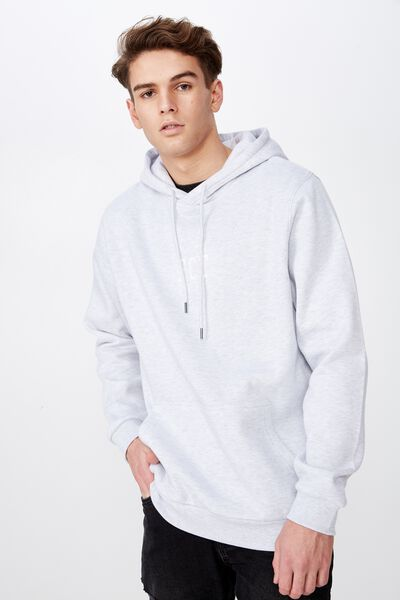 Embroidered Fct Hoodie, SILVER MARLE