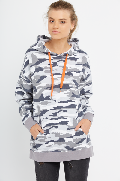 Oversized Hoodie, AT EASE CAMO_GREYSCALE