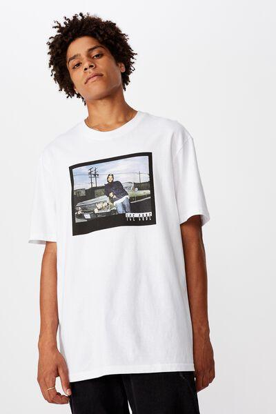 Regular License T Shirt, WHITE/ICE CUBE