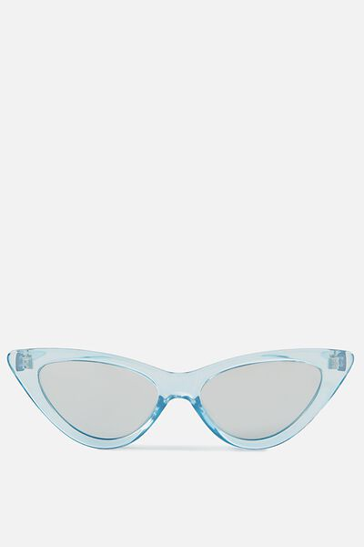 Zarah Cateye Sunnies, CRYSTAL BLUE_SILVER