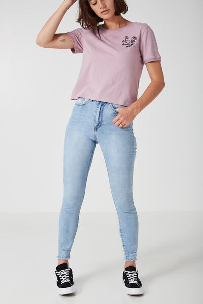 The High-Rise Skinny Jean 2, MID WEST BLUE_CROP FRAY