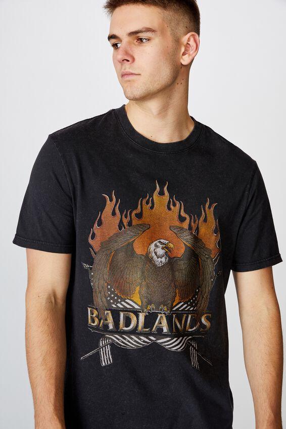 Regular Graphic T Shirt, WASHED BLACK BADLANDS