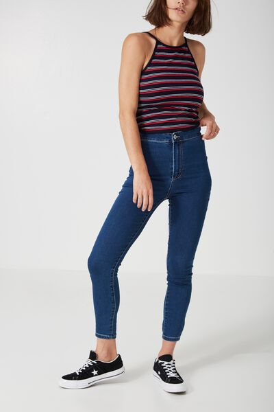 The Super High Stretch Jean 2, BLUE
