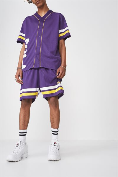 Fila Lcn Baseball Mesh Short, PURPLE