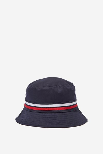 Bucket Hat, NAVY_STRIPE