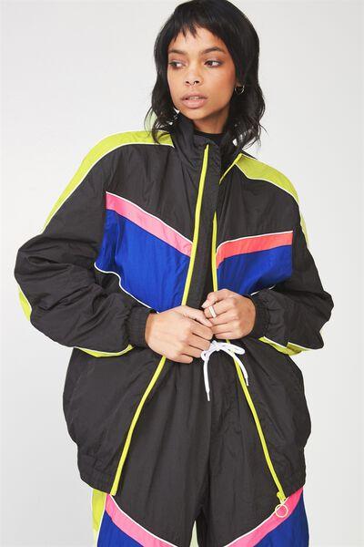 Splice Tracksuit Jacket, BLACK_MULTI SPLICE
