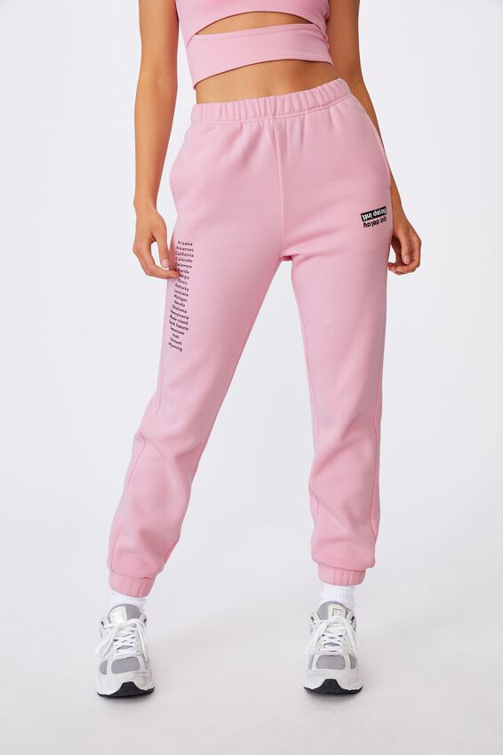 Super High Rise Trackpant, BABE PINK/INTL DELAY